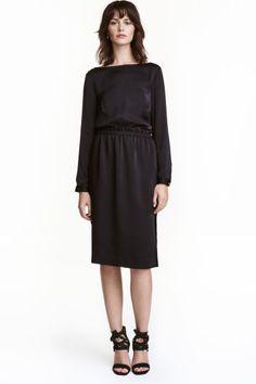 Юбка длиной до колена - Черный - Женщины | H&M RU