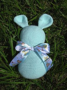 Bunny Blank - Free by Charlotte W. of Nyan Pon | Bunny Rabbits Part 3 - Animal Crochet Pattern Round Up - Rebeckah's Treasures