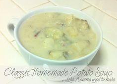 Delicious Potato Soup with dumplings... oh, so good!!  www.ahsophia.blogspot.com #soup #food