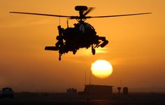 Apache Helicopter at Sunset by  Unknown Artist