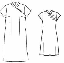 free cheongsam patterns from sewingplum's blog.