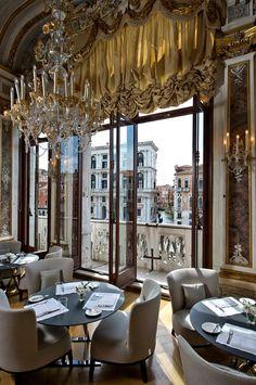 AMAN CANAL GRANDE • Venice, ITALY • Italian Cuisine • The restaurant balcony overlooks the grand canal. Divine food... Spectacular views, service, and accomodations. • Venezia, Italy • (39) 041 2707333 • http://www.amanresorts.com/amancanalgrandevenice/home.aspx