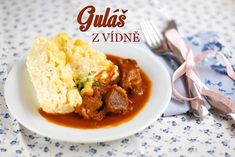 vídeňský guláš z telecího masa Learn To Cook, Thai Red Curry, Mashed Potatoes, Rice, Beef, Dinner, Cooking, Ethnic Recipes, Daughter