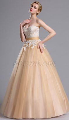 Sweetheart Neckline Applique Prom Dress
