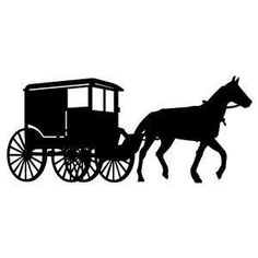 Silhouette Planter Horse Buggy Black And White by ... |Metal Horse And Buggy Silhouette