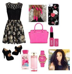 """""""Untitled #110"""" by vpiota ❤ liked on Polyvore featuring Mela Loves London, Michael Kors, NYX, Prada and Versace"""