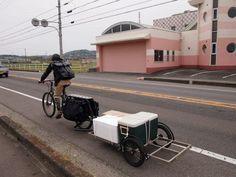 Surly Big Dummy cargo bike with a trucker.