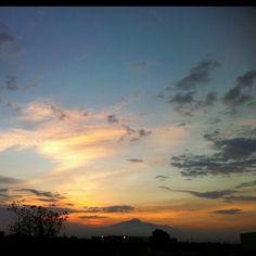 Sunrise view from the plant: La Malinche.
