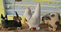 relisted Primitive Farm Parade by Rabbithollowprims on Etsy, $7.00
