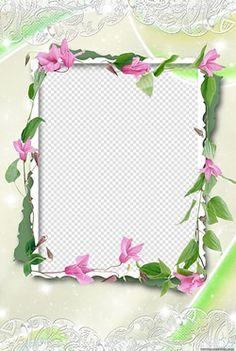 Moldura Flores com Renda. | montafoto.com