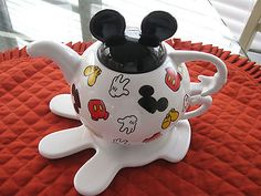 Mickey Mouse 4 Piece Porcelain Teapot Set | eBay