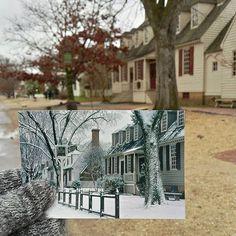 Virgínia Taverna Market Square em Williamsburg Colonial | Fevereiro 1978 & Dezembro 2014
