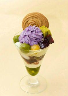 秋の桜<あきのさくら>玄米茶のアイスやカステラ、ゼリー、みつ等…