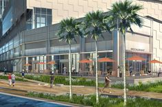 A rendering of the $300 million River Landing Shops and Residences project, which includes an...