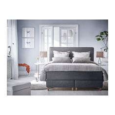 DUNVIK Lit/sommier - 160x200 cm, Hövåg/Tuddal gris foncé, Brynilen - IKEA