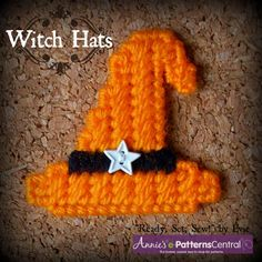 ★ Hats off to. . . Witch Hat Patterns! Download NOW at e-PatternsCentral (6 other hats included!) ★