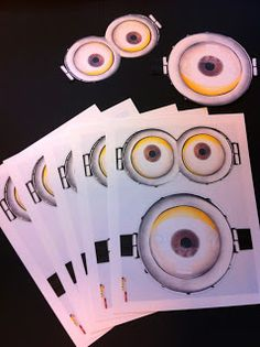The Crafty Crazy: Despicable Me Minion Birthday Party Game- Pin the Goggles On the Minion