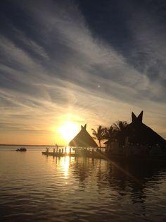 Atardecer en Cancun desde el Sunset Marina