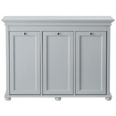 Home Decorators Collection Hampton Harbor 37 In Triple Tilt Out Hamper Dove Grey Laundry SorterLaundry
