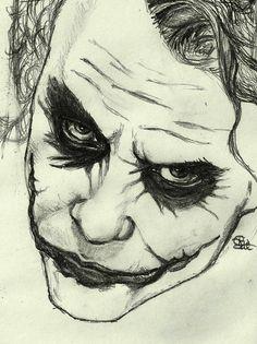 The Joker from the TK. Heath Ledger, the best Joker ever. The Joker Joker Sketch, Joker Drawings, Marvel Drawings, Dark Art Drawings, Pencil Art Drawings, Art Drawings Sketches, Joker Pencil Drawing, Creative Pencil Drawings, Dbz Drawings