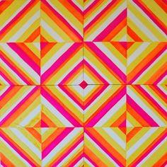 pink, orange, yellow pattern