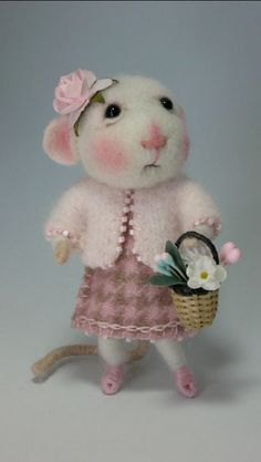 Needle Felted Mouse by Barby Anderson