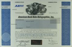 S829 American Bank Note Holographics Inc 1999 Stock Certificate