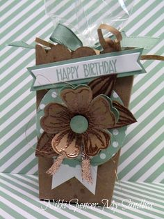 "I decided it was time to ink up my new ""Birthday Bl. Creative Gift Wrapping, Creative Gifts, Pretty Packaging, Gift Packaging, Birthday Cards, Birthday Gifts, Happy Birthday, May Day Baskets, Craft Box"