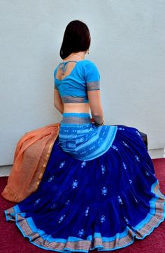 Flying+Skirts+Belly+Dance | Navy Blue in Orissan Cotton