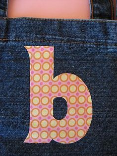 Free letter appliqués. Patterns for every letter in the alphabet in both upper and lower case. Great for DIY sewing craft or any project requiring a letter template.This is my Baby Banner!.