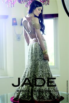 A sublime gold lehenga! - for more follow my Indian Fashion boards :)