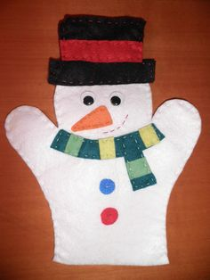 Marioneta muñeco de nieve