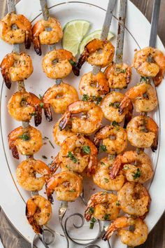 Grilled Shrimp Recipe in the BEST marinade - Valentina's Corner Easy grilled shrimp recipe in the best grilling marinade. Shrimp marinaded in a garlic butter and honey marinade and grilled to perfection, so juicy. Grilled Shrimp Seasoning, Easy Grilled Shrimp Recipes, Marinated Grilled Shrimp, Sauteed Shrimp, Seafood Recipes, Grilled Seafood, Grilled Chicken, Seafood Dishes, Recipes Dinner