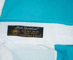 Jack Nicklaus Golf Slacks Pants Trousers Bottoms Hart Schaffner Marx Mens 36x31 #HartSchaffnerMarx #DressFlatFront
