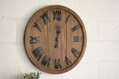 Reclaimed wood Wall Clock  Large Wall Clock by RusticPelican
