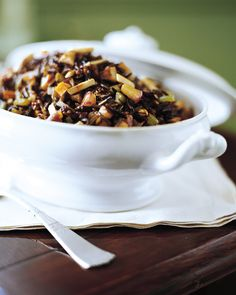 Wild Rice Salad - Martha Stewart Recipes - It's not Thanksgiving in my house without wild rice. :)