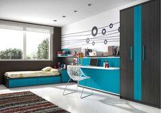 Dormitorio juvenil. Bedroom.  #furniture  #muebles  #Málaga  http://www.decorhaus.es/es/