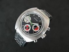 VINTAGE ENICAR OCEAN PEARL CHRONOGRAPH VALJOUX 72 STEEL NO RESERVE