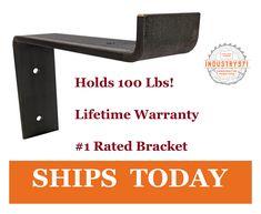 Shelf Brackets Modern, Steel Shelf Brackets, Rustic Shelves, Wall Mounted Shelves, Metal Shelves, Floating Shelves, Shelving Systems, Open Shelving, Shelving Ideas