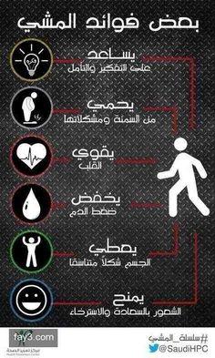 بعض فوائد المشي #تخسيس #انفوجرافيك