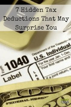 there are numerous other hidden tax deductions that can help save you money and fatten your refund from the IRS. Here are are several hidden tax deductions. Tax Refund, Tax Deductions, Money Tips, Money Saving Tips, Retirement Advice, Financial Tips, Financial Planning, Earn More Money, Budgeting Finances