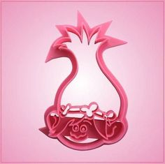 Our Female Troll cookie cutters are 4 inches tall, 2-1/2 inches wide, and are made of pink plastic. These detailed cookie cutters have a recessed stamp for detailing the inside of the cookies. Cleanin