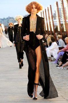 Christina Aguilera wearing Chanel Coat.