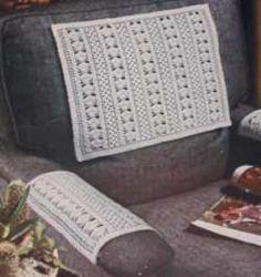 Crochet Chair Set in Fan Pattern – Grandmother& Pattern Book Crochet Books, Crochet Home, Crochet Crafts, Crochet Projects, Diy Projects, Crochet Cushion Cover, Crochet Cushions, Crochet Blankets, Baby Blankets