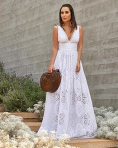 Vestidos branco Modest Dresses, Pretty Dresses, Bridesmaid Dresses, Summer Dresses, Wedding Dresses, White Outfits, Dress Outfits, Fashion Dresses, Dress Up