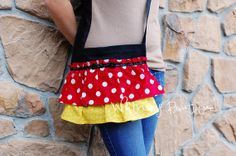 Minnie Mouse Inspired Shoulder Bag by WhitneyBoutique on Etsy, $22.95