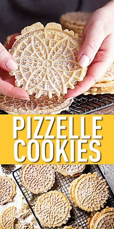 Crisp Pizzelle Cookies: this is the PERFECT pizzelle recipe! So thin, so light, so incredibly crisp, with plenty of authentic anise flavor. These are just like my great-aunt used to make- maybe even b Best Italian Cookie Recipe, Italian Almond Cookies, Almond Meal Cookies, Butter Cookies Recipe, Cheryl Cookies Recipe, Cannoli Cookies Recipe, Italian Anise Cookies, Italian Ricotta Cookies, Gluten Free Cookie Recipes