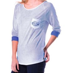 Women's My U Royal Florida Gators Slouchy Pocket Tri-Blend Long Sleeve T-Shirt