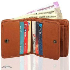 Wallets Wallet For Man / Purse For Man Material: Faux Leather/Leatherette No. of Compartments: 2 Pattern: Solid Multipack: 1 Sizes: Free Size (Length Size: 11 cm Width Size: 9 cm) Country of Origin: India Sizes Available: Free Size   Catalog Rating: ★4 (512)  Catalog Name: StylesModern Men Wallets CatalogID_1502671 C65-SC1221 Code: 602-8787660-204