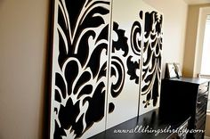 Beautiful - Cut out with background art. All Things Thrifty Home Accessories and Decor: Tutorial: Decorative Wall Art
